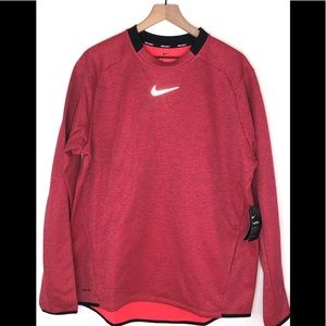 Nike Mens Pink Long Sleeve Gold Sweater XL